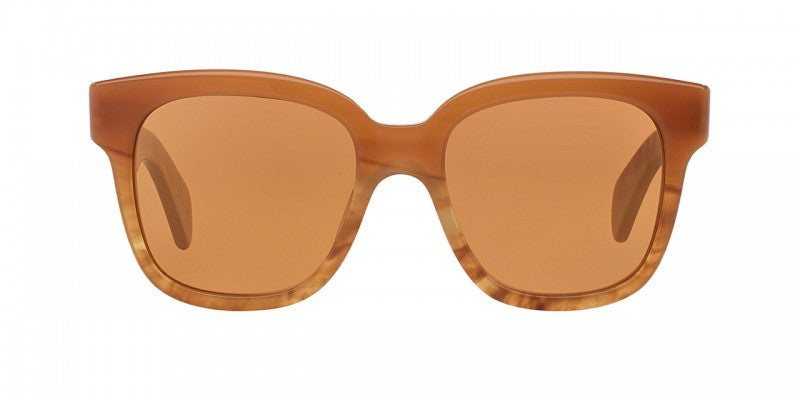 Oliver Peoples Brinley in Terracotta + Peach Gold Mirror
