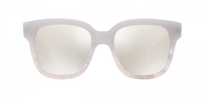 Oliver Peoples Brinley in Soft Pearl + Opal Flash Mirror