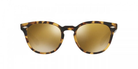 Oliver Peoples Sheldrake Plus in SM Hickory Tortoise/SM Denim + Gold Mirror Glass