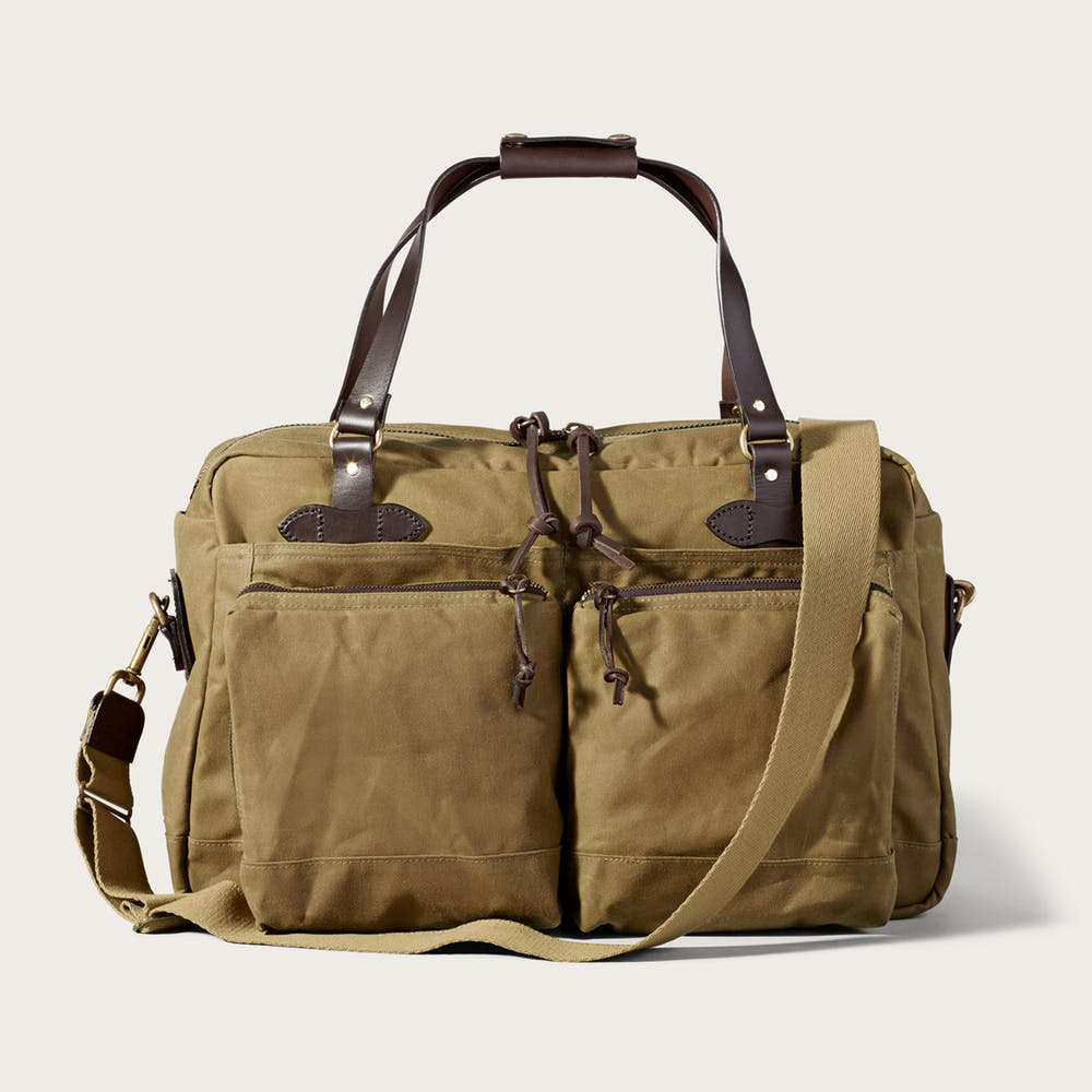 48-Hour Tin Cloth Duffle Bag in Dark Tan
