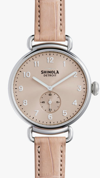 Shinola Ladies watch The Canfield 38MM in Pink