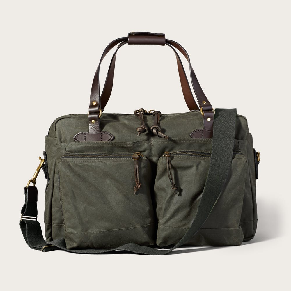 24-Hour Tin Cloth Briefcase in Otter Green