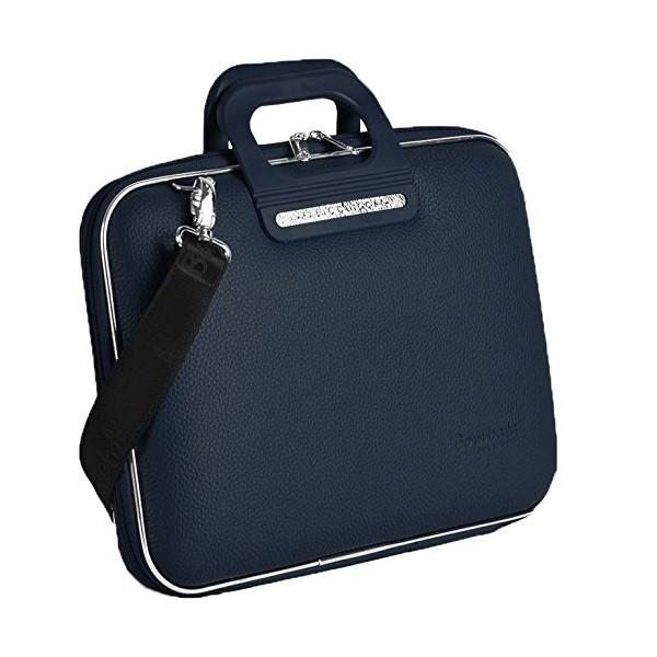 Bombata Bag Firenze Briefcase in Navy Blue
