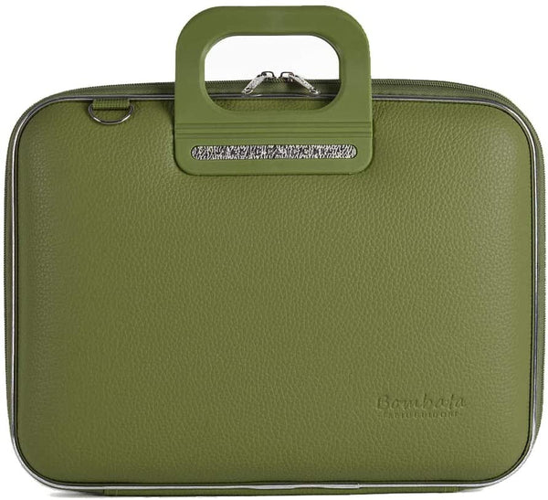 Bombata Bag Firenze Briefcase in Olive Green