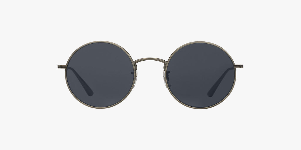 Oliver Peoples After Midnight in Brushed Pewter + blue lens