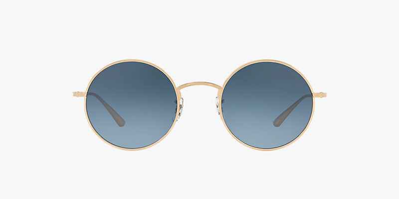 Oliver Peoples After Midnight in Gold + Marine Gradient lens