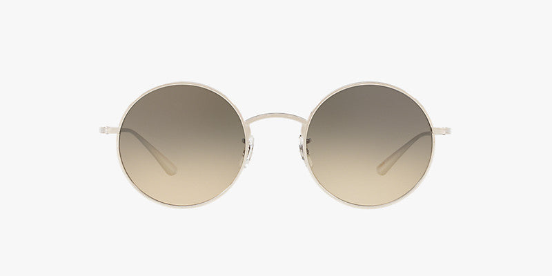 Oliver Peoples After Midnight in Silver + Shale Gradient lens