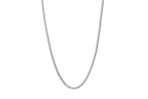 Kemmi Box Chain in Silver