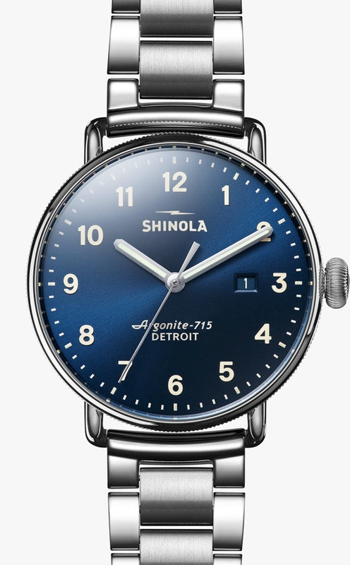 Shinola watch THE CANFIELD 43mm in Midnight