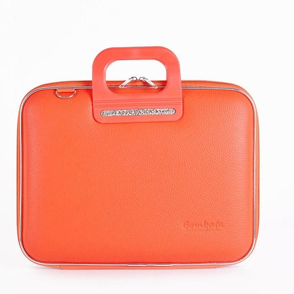 Bombata Bag Firenze Briefcase in Orange