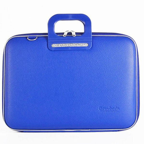 Bombata Bag Firenze Briefcase in Cobalt Blue