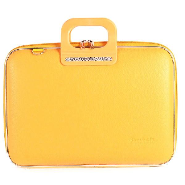 Bombata Bag Firenze Briefcase in Yellow