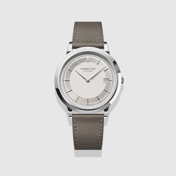 Corniche Watch Men's Historique Automatic Stainless Steel with White Dial