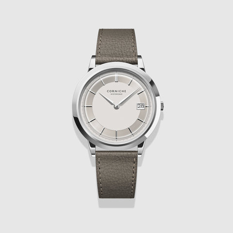 Corniche Watch Men's Historique Stainless Steel with White Dial