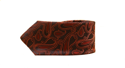 Dion Paisley Tie in Red