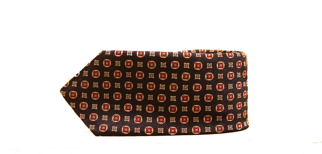 Dion Small Squares Tie in Red