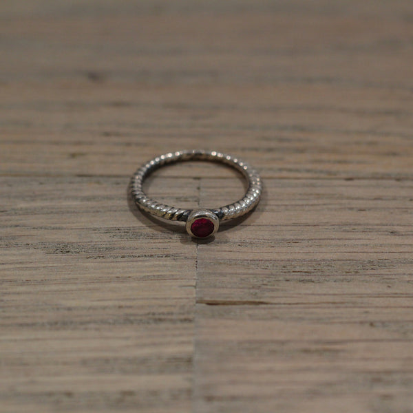 Bloodstone Jewels Ladies Birthstone Ring in Red