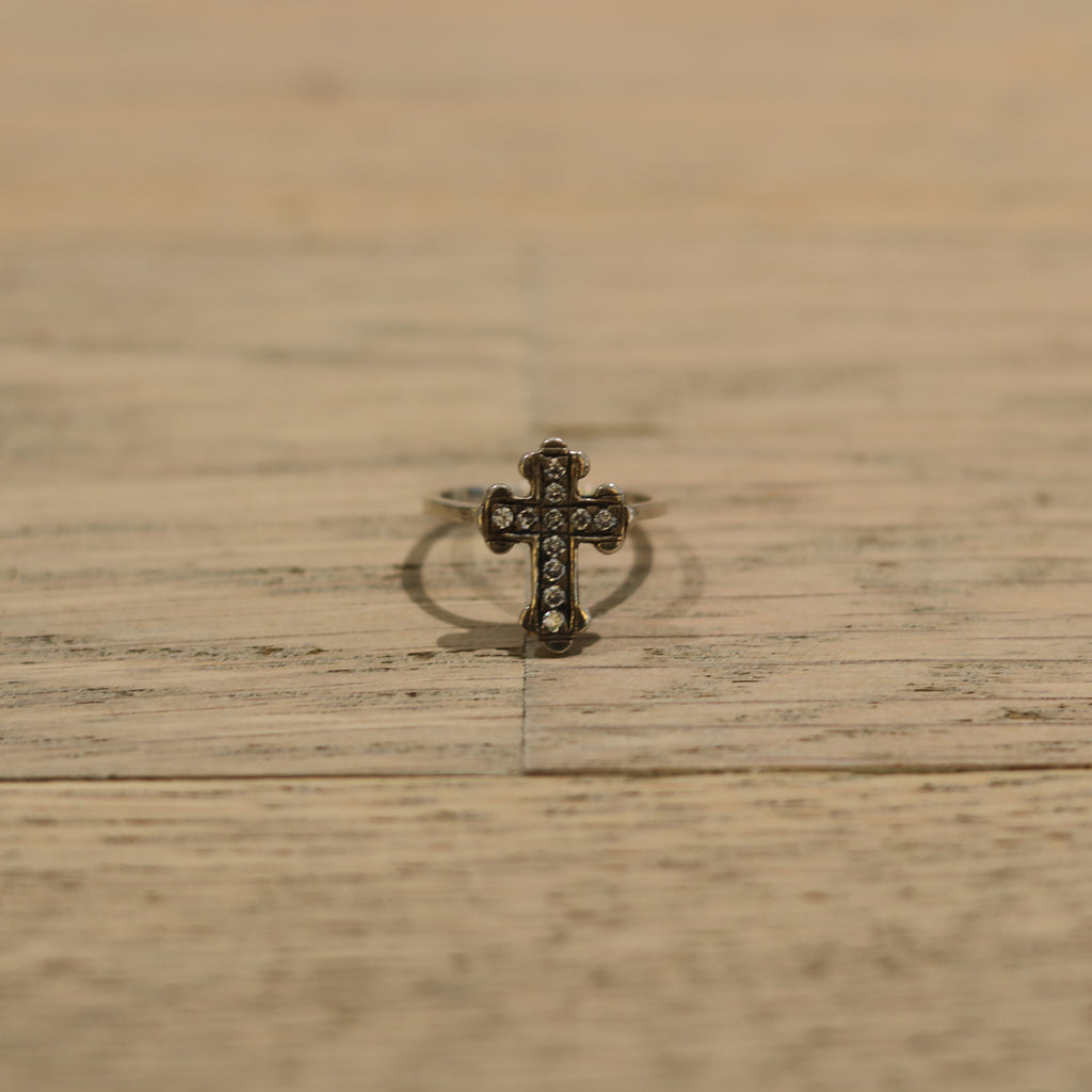 Bloodstone Jewels Ladies Small Cross Ring