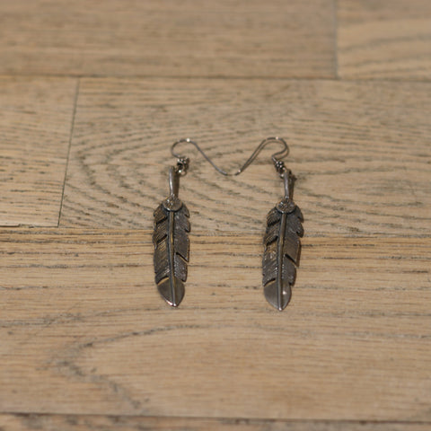 Bloodstone Jewels Ladies Big Feather Earrings