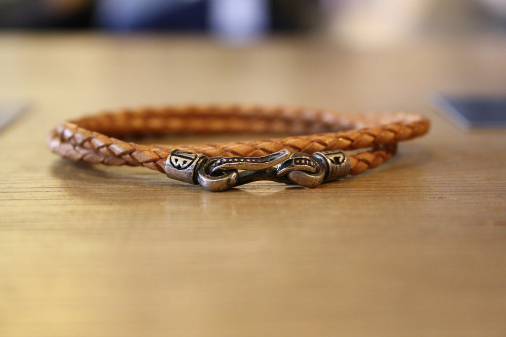 Blood Stone Jewels Triple Wrap Bracelet in Tan