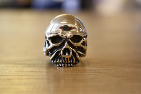 Blood Stone Jewels 925 Silver Skull Ring