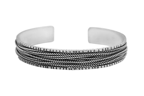 Kemmi Ragged Cuff in Silver