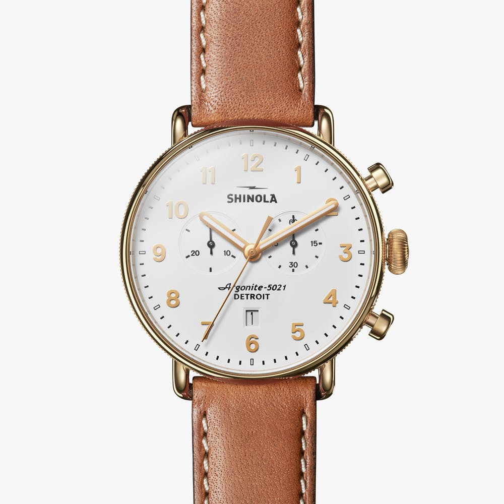 Shinola watch THE CANFIELD CHRONO 43MM in WHITE
