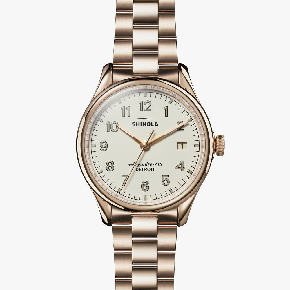 MONTRE SHINOLA VINTON 38MM EN CHAMPAGNE
