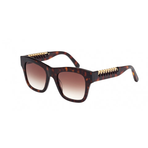 Stella McCartney Eyewear Brown Frame Gold Details Ladies Sunglasses