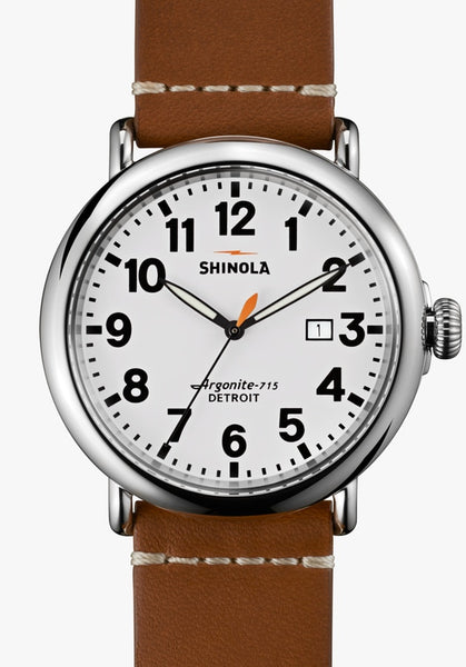 Shinola watch THE RUNWELL 47MM in 	WHITE