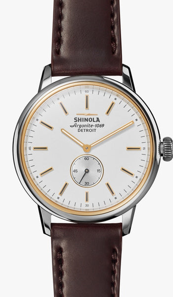 Shinola watch THE BEDROCK 42mm in White