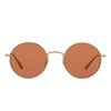 Oliver Peoples After Midnight in Brushed Gold + Pink lens