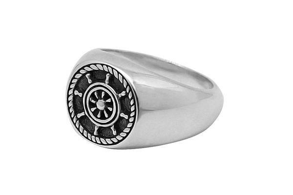 Kemmi Wheel Ring in Silver