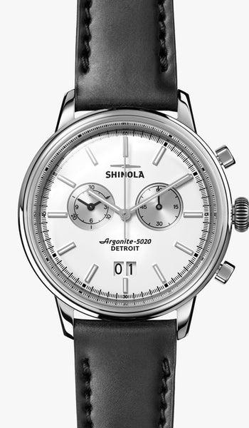 Shinola watch THE BEDROCK CHRONO 42MM in White Matte