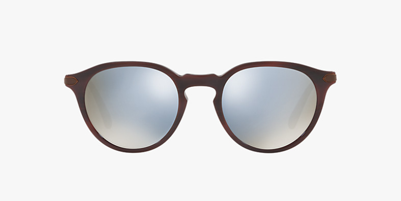 Oliver Peoples Berluti Rue Marbeuf Tailored Fit in St Emilion + Blue Mirror Gold Lens
