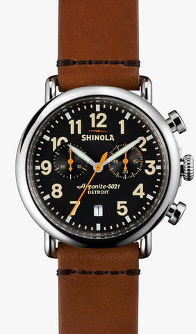SHINOLA LE RUNWELL CHRONO 41MM en NOIR