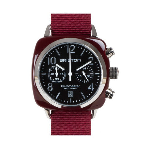 Briston Clubmaster Chrono burgundy
