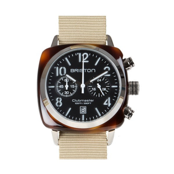 Briston Clubmaster Chrono tortoise shell – black dial