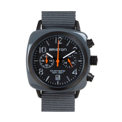 Briston Clubmaster Chrono grey army