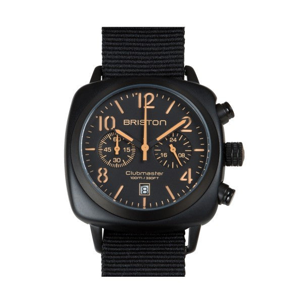 Briston Clubmaster Chrono black matt