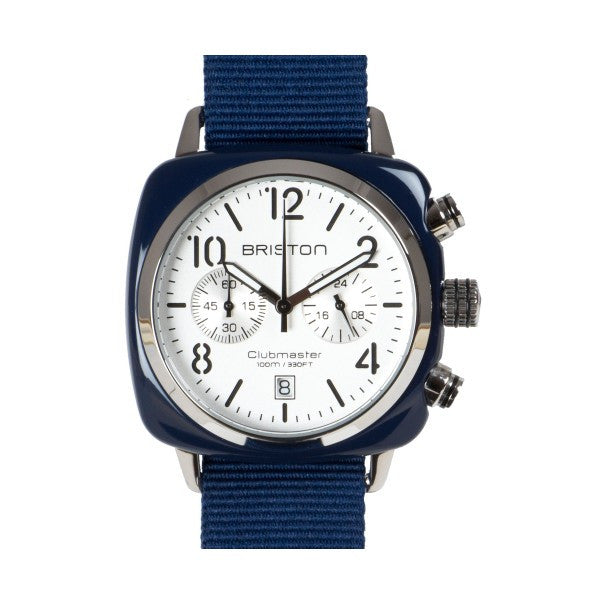 Briston Clubmaster Chrono navy blue