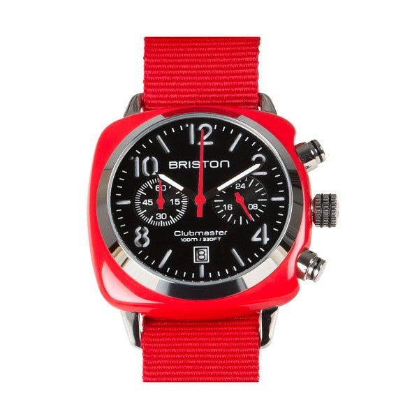 Briston Clubmaster Chrono red