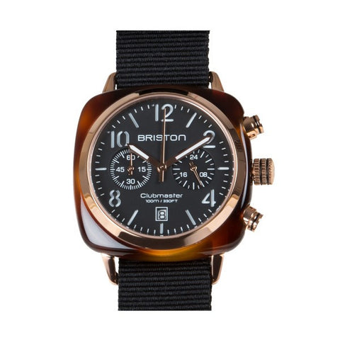 Briston Clubmaster Chrono tortoise shell – rose gold
