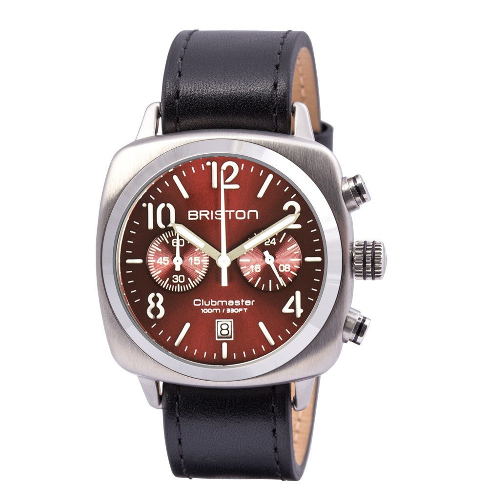 Briston Clubmaster Classic Steel Crono Red Sunray Dial
