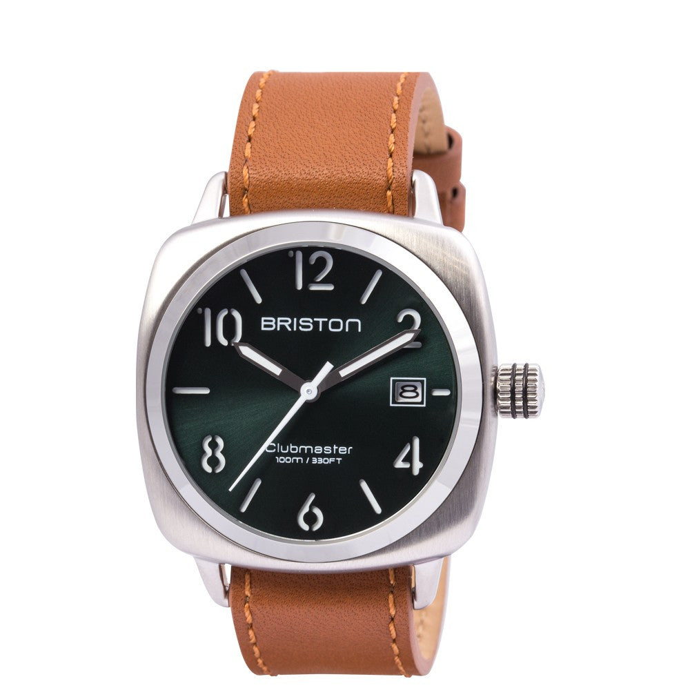 Briston Clubmaster Classic Steel HMS British Green Sunray Dial