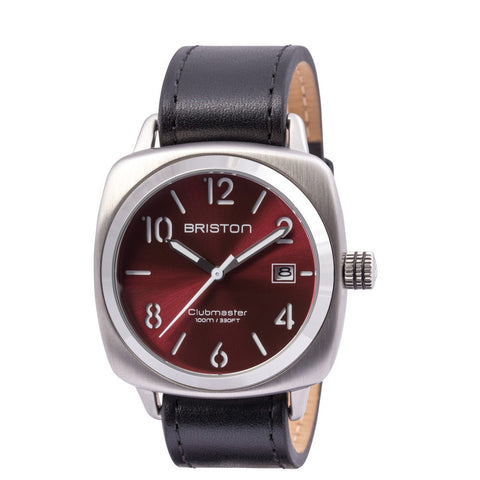 Briston Clubmaster Classic Steel HMS Red Sunray Dial