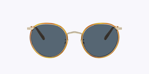 Oliver Peoples Casson  - Silver Soft Gold Amber / Blue
