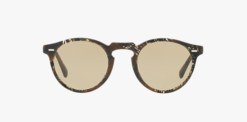 Oliver Peoples Gregory Peck Sun in Palmier Chocolat + Light Brown Lens