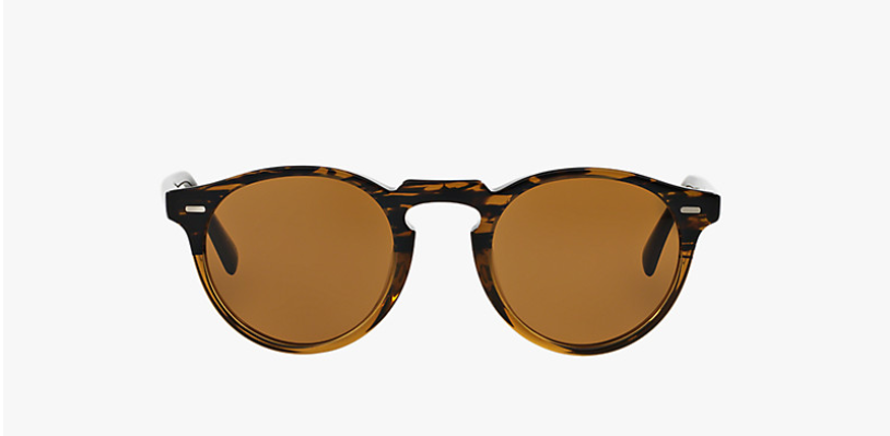 Oliver Peoples Gregory Peck Sun in Tortoise + Brown Lens