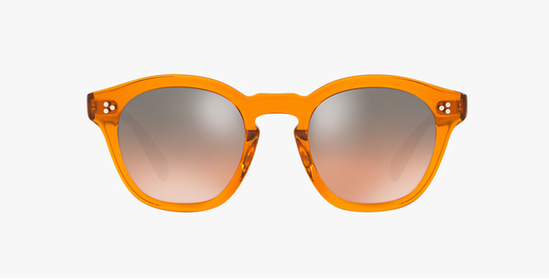 Oliver Peoples Boudreau L.A in Smoked Topaz  + Orange Gradient Silver Mirror lens